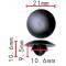 C 3242 Клипса капота BMW T=21.0, H=10.6, F=(max)10.6  51489119216