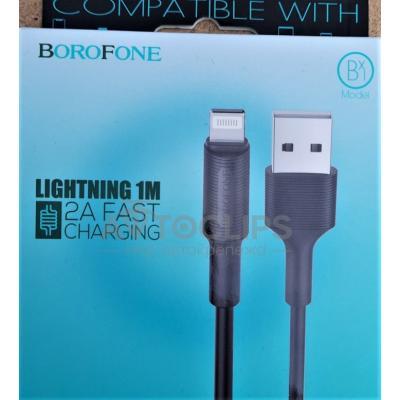 USB-L Borofone BX1 EzSync Lighting black