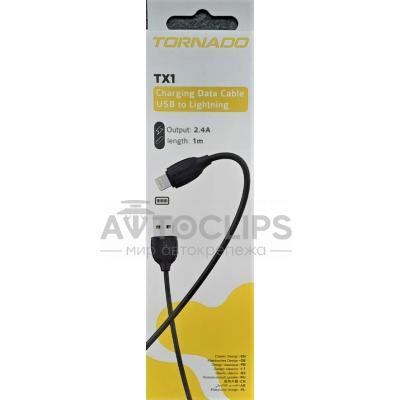 Кабель USB-L  Tornado TX1 Lighting black/white