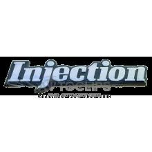 Эмблема на крышку багажника ВАЗ 2108, 09 INJECTION