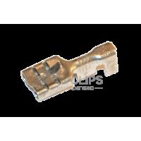 Клемма гнездовая (мама) 0,4 мм. серии 6,3 мм. под кабель 1-2,5 мм. луженая