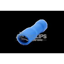 FDFD 2-187(8) Клемма 4,8 мм. гнездовая (мама) в полной изоляции синяя