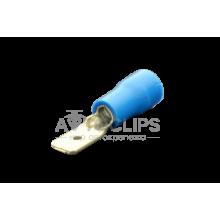 MDD 2-187(8) Клемма 4,8 мм. штырьевая (папа) в изоляции синяя