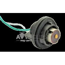 PN12 Патрон заднего фонаря Lanos, Sens 1-контактный черный (цокольн.) с проводом