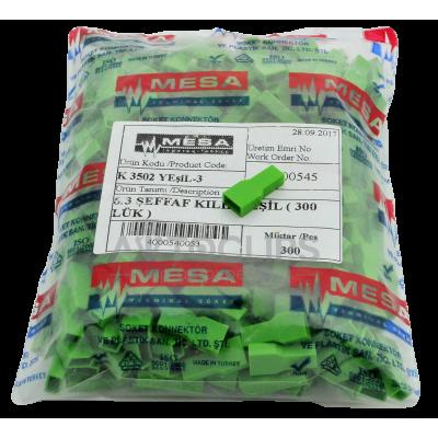 """Кембрик изол. на """"маму"""" серии 6,3 мм. зеленый (300 шт)"""