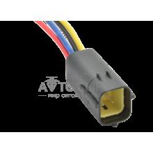 RP377 Разъем 4-х контактный аналог AMP 17 174259-2 для датчика кислорода Лямбда-зонда Chevrolet Aveo Lacetti 1.6 (ответная часть к RP376)