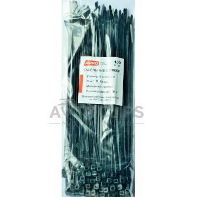 Стяжки кабельные 4х250 мм. черные